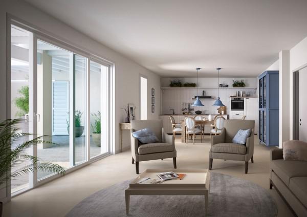 Vendita appartamento trilocale classe a moniga del - Cucina con vetrata ...